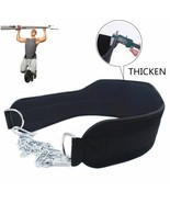 Weight Lifting Belt With Chain Dipping Belt For Pull Up Chin Up Thick Ne... - $18.79+