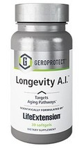 New From Life Extension GEROPROTECT Longevity A.I. calorie restriction GLA - $32.49