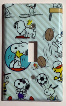 Peanuts Snoopy sport Toggle Rocker Light Switch Outlet wall Cover Plate decor image 1