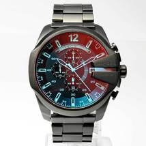 Diesel DZ4318 Mega Chief Mens Watch Chronograph Black Stainless Steel - $141.25 CAD