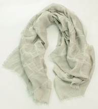 Ralph Lauren Womens Ladies Grey Cashmere Wool Scarf Shawl Stirrup Print - $215.17