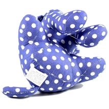 Delton Blue Polka Dot Fabric Puppy Dog Jingle Bell Small Door Stopper Doorstop image 5