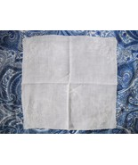 VINTAGE SOFT WHITE COTTON OR LINEN EMBROIDERED LADIES HANDKERCHIEF CIRCA... - $5.00