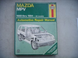 Mazda MPV mini-van, Haynes Repair Manual, Service Guide 1989-1994. Book - $9.65