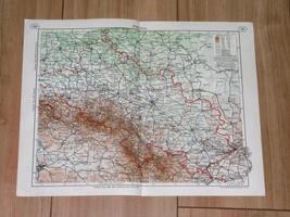 1938 ORIGINAL VINTAGE MAP OF SILESIA UPPER SCHLESIEN BRESLAU POLAND GERMANY - $23.76