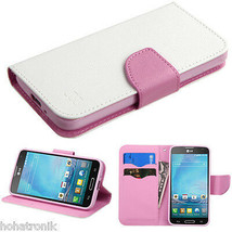 White For Lg Optimus L90 D415 Magnet Leather Flip Wallet Case Card Folio Cover - $8.50
