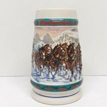 Anheuser Busch Budweiser 1993 Clydesdale Annual Holiday Beer Stein Mug - $19.79