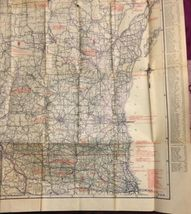 "Vintage1924 Rand McNally Wisconsin Auto Trails Map Folding 34""x27"" image 6"