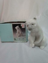 "Vintage New In Box Lladro ""Resting Polar Bear #1208"" Porcelain Figurine ... - $75.99"