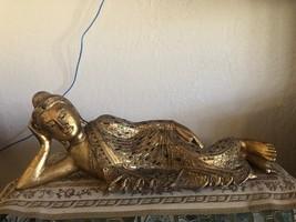 GOLD GILDED SLEEPING BUDDHA - $325.00