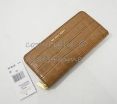MICHAEL Michael Kors Mercer Crocodile-Embossed Continental Wallet in Acorn Brown - $139.00