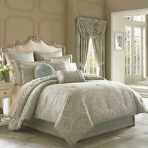 New J. Queen New York Colette 4 Piece Comforter Set Dusty Blue Variety Sizes - $237.59+