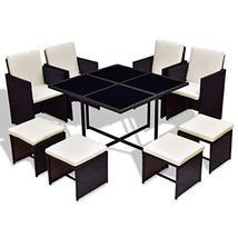 Hulaloveshop 9 pcs Wicker Rattan Cube Garden Furniture Set - $735.52