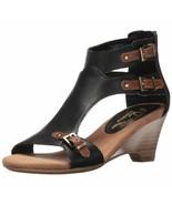 NEW A2 by Aerosoles 10.5 M Mayflower Wedge Heel Open Toe Sandals Buckle ... - $37.71