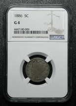 1886 Liberty 5¢ Nickel Coin NGC G4 Key Date Lot# A 251
