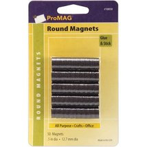 "ProMag Round Magnets, 1/2"", 50/pkg New Free Shi... - $13.86"