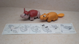 Kinder - K97 98-99 Yak & castor - complete set + 2 papers - surprise egg - $2.50