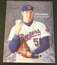 1993 Texas Rangers Souvenir Program Magazine Tom Henke Nolan Ryans Last ... - $9.89
