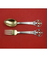 Christmas by A. Michelsen Sterling Silver Fork and Spoon Set 2pc 1936 Ca... - $256.41