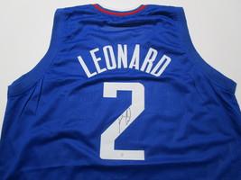 KAWHI LEONARD / NBA MVP / AUTOGRAPHED L.A. CLIPPERS BLUE CUSTOM JERSEY / COA