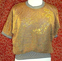 Copper Metallic batwing VINTAGE 70s/80s sweater M (NO TAG T27-02C9G)* - $45.52
