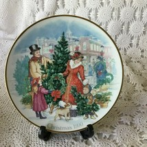 Avon Bringing Christmas Home Porcelain Collector Plate 1990 22 K Gold Trim - $11.63