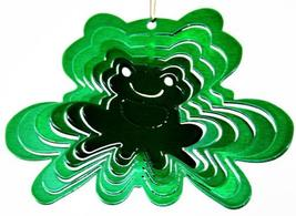 3 in stainless steel green frog USA 3D hanging garden yard wind spinner spinners - $9.00