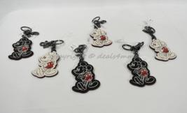 Coach F58994 Disney Mickey Mouse Classic Bag Charm/Keyclip/ Keyring White/Black - $59.00