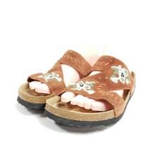 Betula By Birkenstock Sandals Women's Size 8 Brown Suede Floral - $56.05