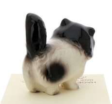 Hagen-Renaker Miniature Ceramic Cat Figurine Fat Black and White Persian image 3