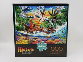 Buffalo Marine Color 1000 Pc Jigsaw Puzzle - Shipwreck Reef - Made Once - $19.99