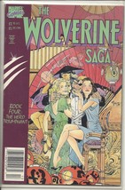 (CB-16) 1989 Marvel Comic Book: The Wolverine Saga #4 { Squarebound, $3.95 } - $4.00