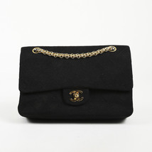 "Vintage Chanel Quilted Jersey Small ""Double Flap"" Bag - $1,705.00"