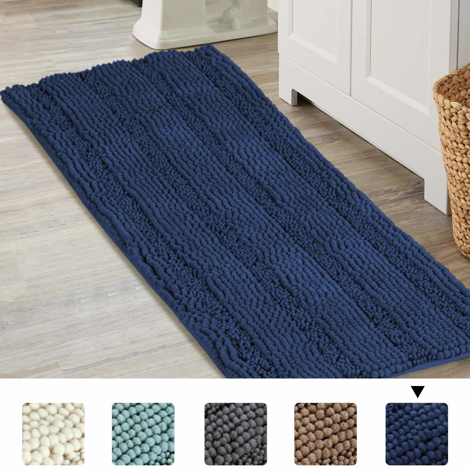 Turquoize Navy Blue Bathroom Rugs Extra Large Bathroom Mat