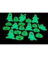 Set of 20 Glow in the Dark Halloween Ghosts and Jack O Lantern Pumpkins - $7.95