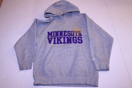 Youth Minnesota Vikings S (8) Hoodie Hooded Sweatshirt (Grey) Reebok - $14.01