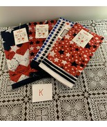 Four Assorted Brand New Patriotic Bandanas 22 Inch Biker Scarf Red White... - $12.99