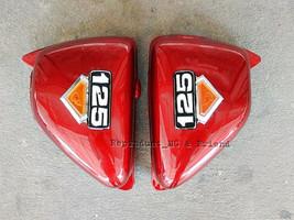 Honda CG125 CG110 JX125 JX110 Side Cover Set L/R Red New - $18.61