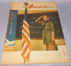Vintage Ladies The Household Magazine War Issue September 1942 Boy Scout - $9.95