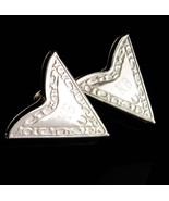 Vintage western Collar ends - silver tips - Initial KB - Letter personal... - $55.00
