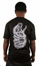 In4mation Gift Crew T-Shirt Rücken Grafik Schlange Venom Schwarz Baumwolle - £10.76 GBP