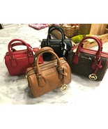 Michael Kors Giftables Bedford Pebbled Leather Mini Satchel Crossbody Ba... - $85.00