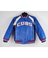 Chicago Cubs youth kids vintage jacket baseball MLB blue white red size ... - $45.48