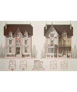 ARCHITECTURE Color Print - VICTORIAN Brick Villa L'Isle sur la Sorgue Fr... - $49.50