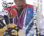 Barney Storey MBE Cyclist 3 x Paralympic Gold Official Hand Signed Photo