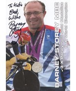 Barney Storey MBE Cyclist 3 x Paralympic Gold Official Hand Signed Photo - $15.99