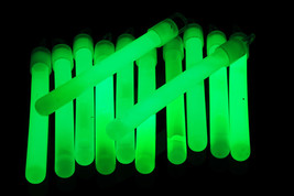 4 inch Premium Green Glow Sticks with Lanyards- 25 Count - $11.95