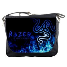 Messenger Bag Razer Beautiful Elegant Blue Smoke Design Video Game Anime Fantasy - $30.00