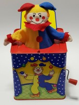 Jack-In-The-Box Classic Circus Clown Jester 1997 Schylling Vtg Musical Toy - $14.25
