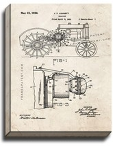 Tractor Patent Print Old Look on Canvas - $39.95+